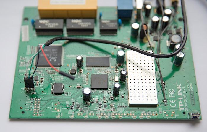 Подключение кабеля USB to serial RS232 к serial-интерфейсу