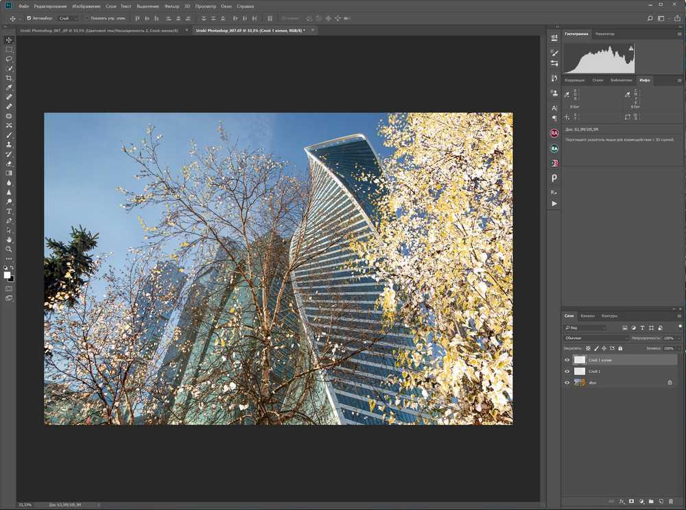 Winter в Adobe Potoshop
